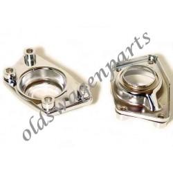 set de 2 couvercles chromés de lame de torsion arrière pour trompettes