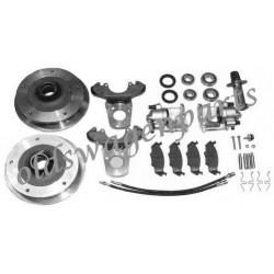 kit frein à disques avant 5x205 pour pivots -7/65 complet avec maitre cylindre et flexibles