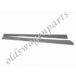 marchepieds aluminium noirs polis (la paire)