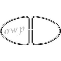 moulure chromée plastique pour joint vitre origine ( 1 mètre)