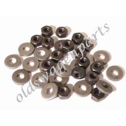 set de 16 boulons et rondelles de culasses diam 8 mm