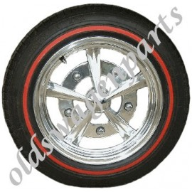 set de 4 flancs blancs 14""