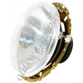 phare avant HELLA avec cerclage chromé 3 vis pour ampoule à culot CE