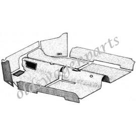 kit moquette intérieur noire 1302/1303 -7/73