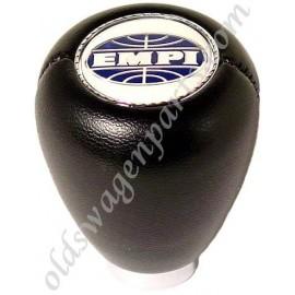 pommeau de levier de vitesse vinyl noir avec le dessin des vitesses