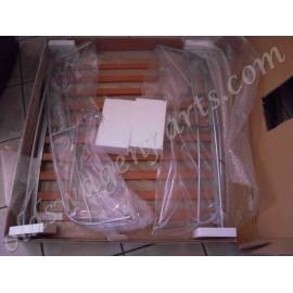 galerie de toit ceramise avec lattes en bois FLAT 4 (longueur 1120mm x largueur 870mm)