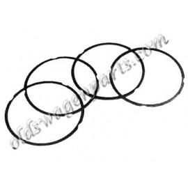 """set de 4 schims de haut de cylindre en cuivre 94 mm épaisseur 1,3mm (0,05"""")"""