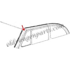 joint vertical de baie de pare-brise gauche ou droit cabriolet 65-79