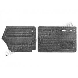 jeu de 4 panneaux de portes noirs pour cabriolet 67-72 noir (avec vide poche)