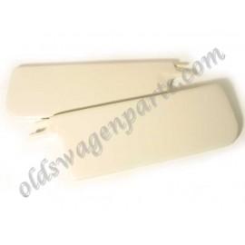 set de 2 pare-soleil TMI blanc sans miroir côté passager 65-72 (sauf 1303)