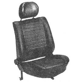 kit housses de sièges gris clair cabriolet 74-76 avec appuis-tête