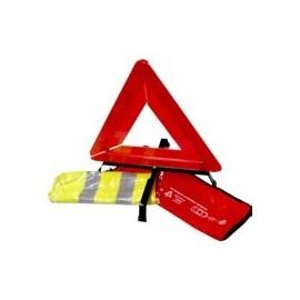 kit de sécurité homologué (triangle+gilet+housse de rangement)