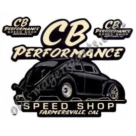 "autocollant ""CB PERFORMANCE SPEED SHOP"""