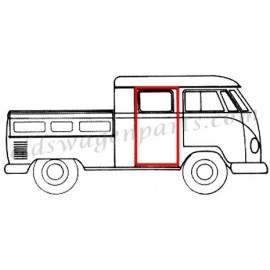 joint de porte arr latéral pick up double cabine T2 58-67