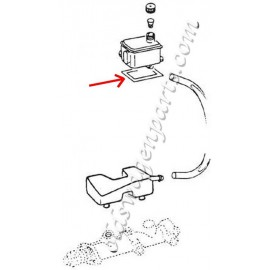 bocal de liquide de frein inférieur (sur maître-cylindre) 73-
