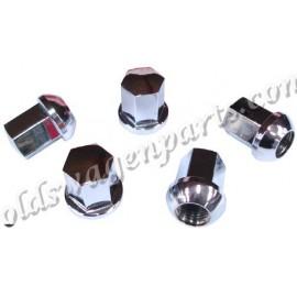 set de 5 écrous de roue aluminium style PORSCHE à appuis bombé (14x1,5) finition alu