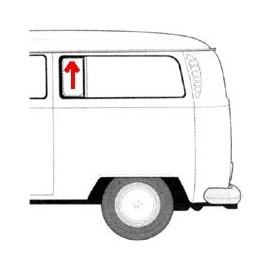 joint de déflecteur de vitre latérale arrière ou centrale 68-