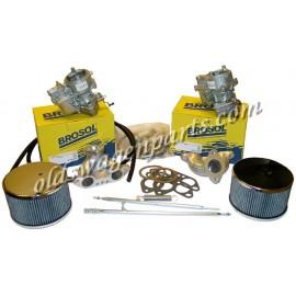 kit doubles carburateurs KADRON 40 mm