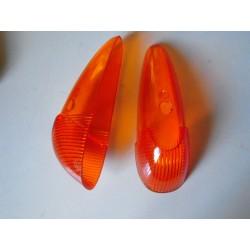 glace de clignotant d aile orange 8/58-7/63