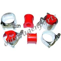 set de 4 supports uréthane pour barre stabilisatrice de diamètre d'origine de train à rotules