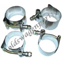 set de 4 supports uréthane pour barre stabilisatrice gros diamètre de train à rotules