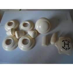 set de bouton ivoire de 53 à 55 10mm