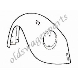 aile avant gauche 8/67-7/74 et 1200 8/73-7/74 (avec trou de pate de pare-choc et trou de clignotant)