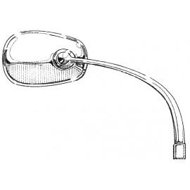 Rétroviseur oval chromé gauche WCM du 8 / 50 au 7 / 67