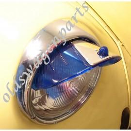 set de 2 paupières de phares en inox poli 8/67-