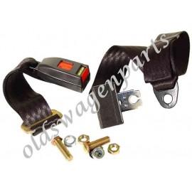 ceinture sécurité arrière noire manuelle (3 points d'attache)