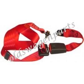 ceinture sécurité avant rouge à enrouleur