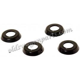 rondelle de poignée de fermeture de porte T1 -55 et T2 -60 noire