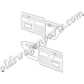 set de 4 panneaux de porte gris clair (off white 15) avec vide poche 65-66 TMI