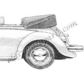 couvre capote alpaga noir cabriolet 50-62