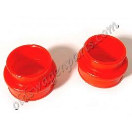 set de 2 soufflets d'admision uréthane pour moteur D/A rouge