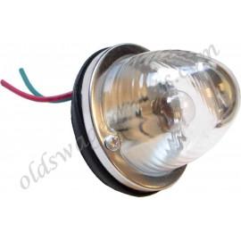 feu arrière rond glace rouge prévu pour ampoule simple filament