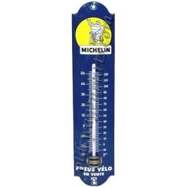 thermomètre émaillé jaune michelin
