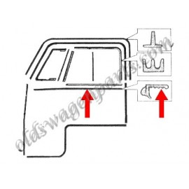 joints (2) de porte supérieur sur caisse T2 55-67