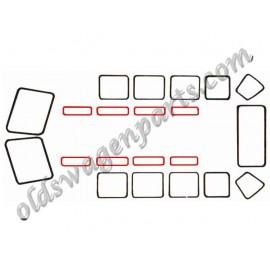 joint de vitre latérale stationnaire T2 50-67