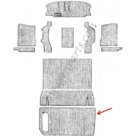 moquette noire sur les passages de roues arrière 50-67