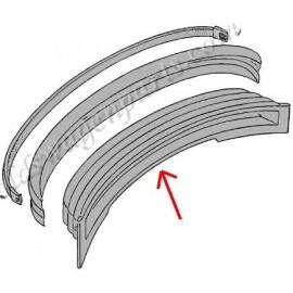 set de 2 bandes de caoutchouc de pare-choc avant et arrière 73-
