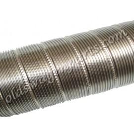 gaine aluminium 1 mètre (qualité sup, diam. 60mm)