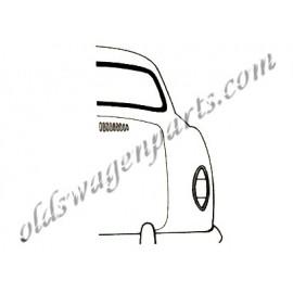 joint de lunette arrière KG14 57-66 pour moulure