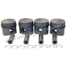 kit pistons avec segments et axe, en côte standard, 76,51mm
