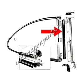 joints (2) vertical de vitre arrière pop out 72-74